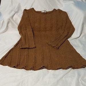Moking Top- Ladies long sleeve sweater dress NWOT
